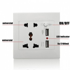 پریز یو اس بی شارژ طرح Multi Socket